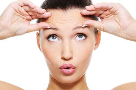 mimikfalten – falten an der stirn